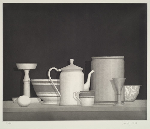 Still Life, a Etching and Acquatint by William Bailey