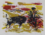 Sunday Afternoon, a Lithograph by Elaine de Kooning