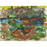 Catskill Series: Rocks and Trees., a Watercolor on paper by Elaine de Kooning