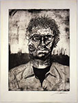 Self portrait, a Etching and Aquatint by Adam Werth