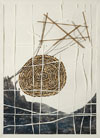untitled, a paper, tweed,feathers,string by Ishmael Randall Weeks